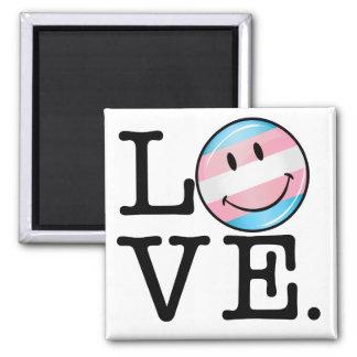 Transgender Pride Flag Love 2 Inch Square Magnet