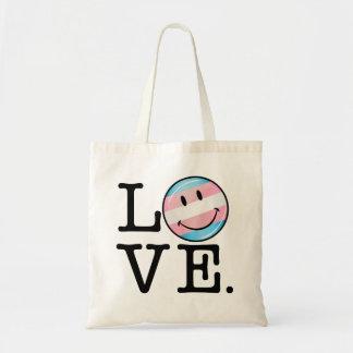 Transgender Pride Flag Love Budget Tote Bag