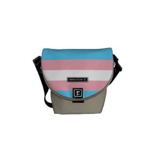Transgender Pride Flag Messenger Bag