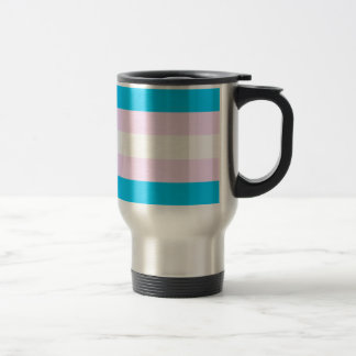 Transgender pride flag 15 oz stainless steel travel mug