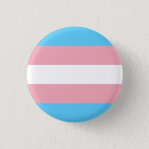 Transgender pride flag pinback button