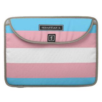 Transgender Pride Flag Sleeve For MacBook Pro