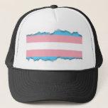 "Transgender Pride Flag Trucker Hat<br><div class=""desc"">Celebrate your pride in being who you really are with this transgender pride flag.</div>"