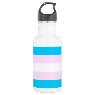 Transgender pride flag water bottle