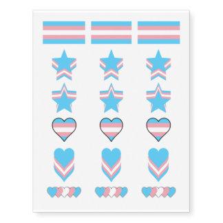 Transgender pride flags temporary tattoos