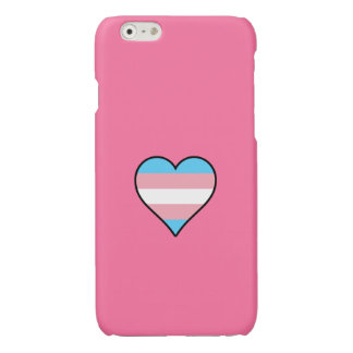 Transgender pride hearts glossy iPhone 6 case