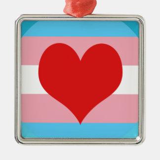Transgender Pride Metal Ornament
