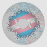 Transgender Pride Triple Goddess Moon Classic Round Sticker