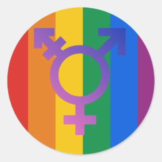 Transgender Symbol Classic Round Sticker