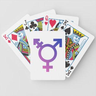 Transgender Symbol Logo Bicycle Playing Cards