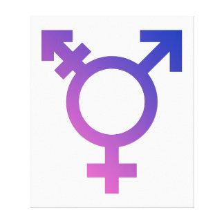 Transgender Symbol Logo Canvas Print