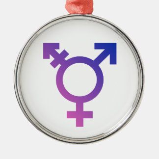 Transgender Symbol Logo Metal Ornament