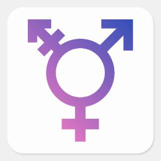 Transgender Symbol Logo Square Sticker