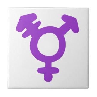Transgender Symbol Small Square Tile