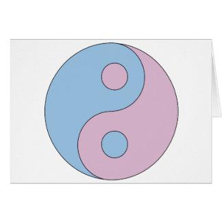 Transgender Yin Yang Symbol Greeting Card