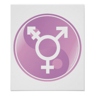 Transgender Ying Yang Posters