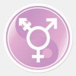 Transgender Ying Yang Round Sticker