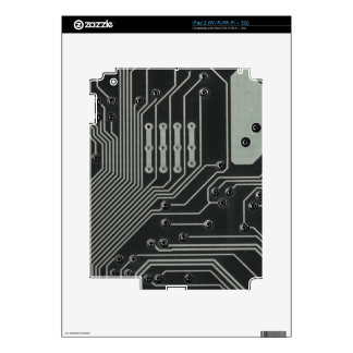 TRANSHUMANISM: Abstract B/W circuit pattern. Skins For iPad 2