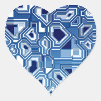TRANSHUMANISM abstract pattern Nº3 Heart Sticker