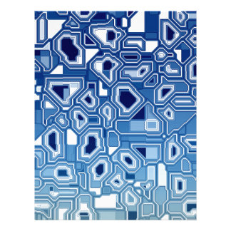 TRANSHUMANISM abstract pattern Nº3 Letterhead
