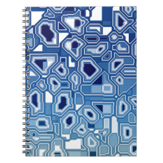 TRANSHUMANISM abstract pattern Nº3 Notebook