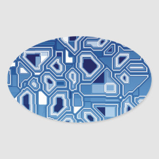 TRANSHUMANISM abstract pattern Nº3 Oval Sticker