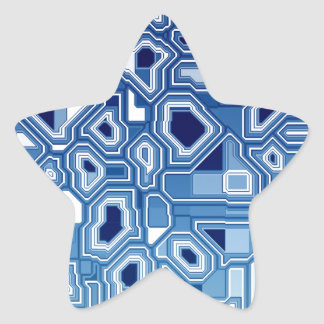 TRANSHUMANISM abstract pattern Nº3 Star Sticker