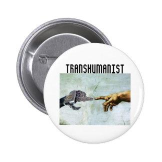 Transhumanism Pinback Button
