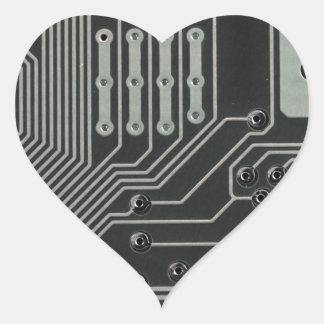 TRANSHUMANIST abstract pattern Nº4 Heart Sticker