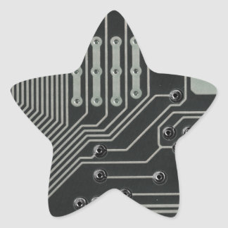 TRANSHUMANIST abstract pattern Nº4 Star Sticker