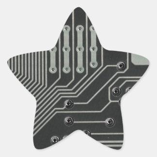 TRANSHUMANIST abstract pattern Nº4 Star Sticker