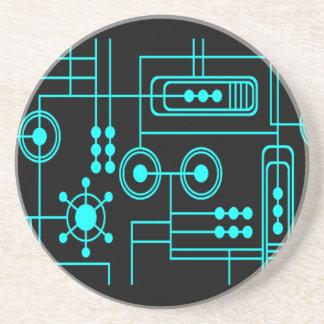 TRANSHUMANIST digital pattern Nº1 Drink Coaster