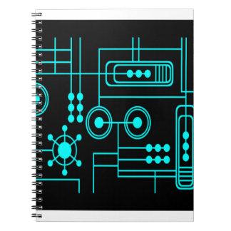 TRANSHUMANIST digital pattern Nº1 Notebook