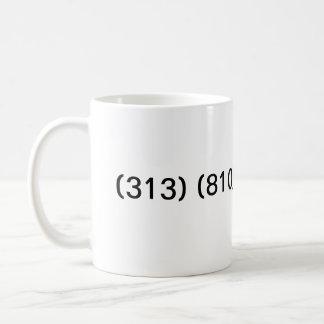 Transición del código de área de Detroit Michigan Tazas De Café
