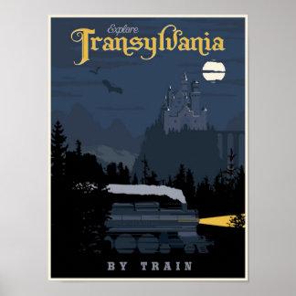 Transilvania por el poster del viaje del tren