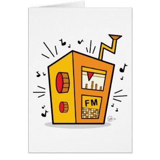 Transistor Radio - Blank Greeting Card