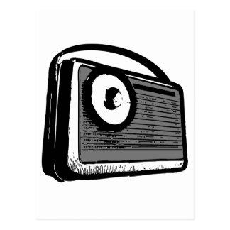 TRANSISTOR RADIO PORTABLE POSTCARD