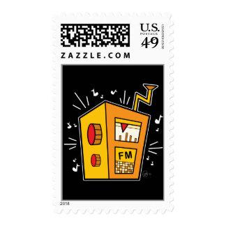 Transistor Radio - Postage Stamp