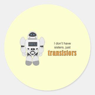 Transistores del robot etiqueta