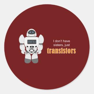 Transistores del robot etiquetas