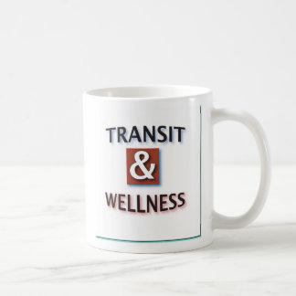 Transit and wellness, logo by dennis coffee mug