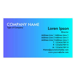 Transition - Blue to Cyan Business Cards