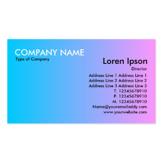 Transition - Blue to Pink Business Cards