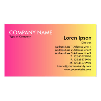 Transition - Crimson to Yellow Business Cards