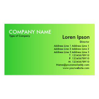 Transition - Green to Green Business Cards
