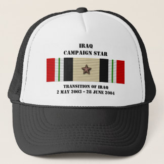 Transition of Iraq Campaign Star Trucker Hat