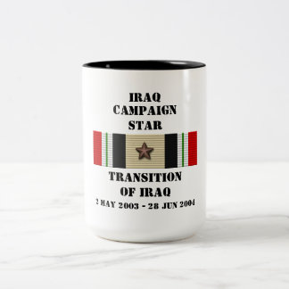 Transition of Iraq  / CAMPAIGN STAR Two-Tone Coffee Mug