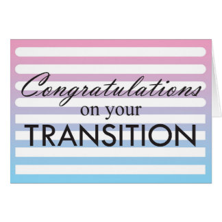 Transition Pink to Blue Card