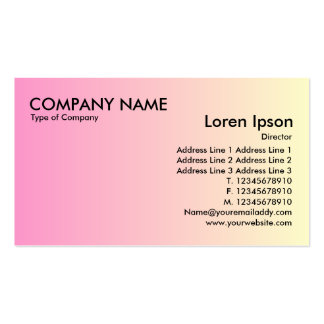Transition - Pink to Pale Yellow Business Card Templates