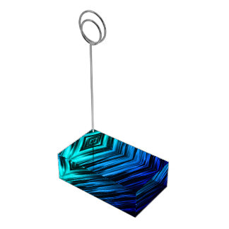 Transitioning Blue Streaks Table Card Holders